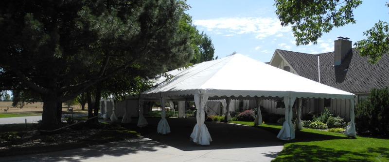 Image of tent used for wedding reception in Valley NE