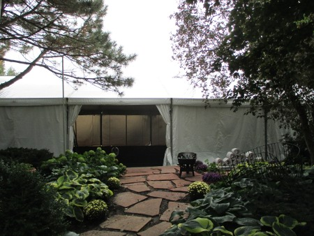 Image of picturesque tent entrance