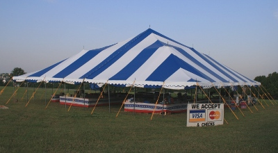 Image of a 60 X 60 Fireworks tent Kansas City area