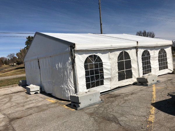Clear Span Tents used for health screening