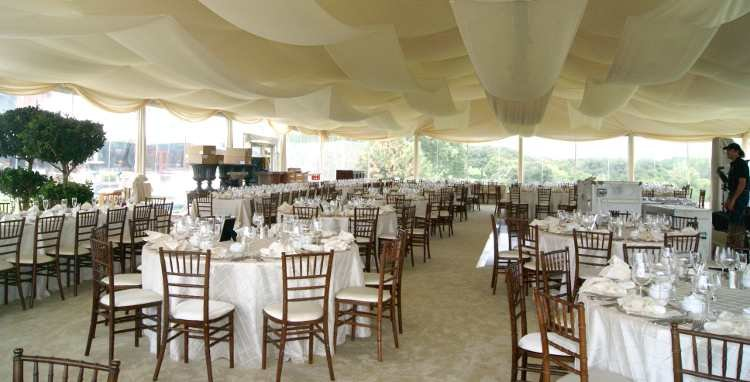 Image of clear span tent rented for a wedding tent in Omaha Nebraska.