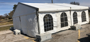 Image of Omaha Health Screening Tent.