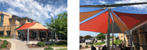Image of shade structure for a break area shade structure.