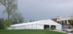 Image of Tent providing extra space for students.