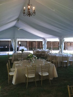 Image of wedding tent at Lied Lodge Nebraska City