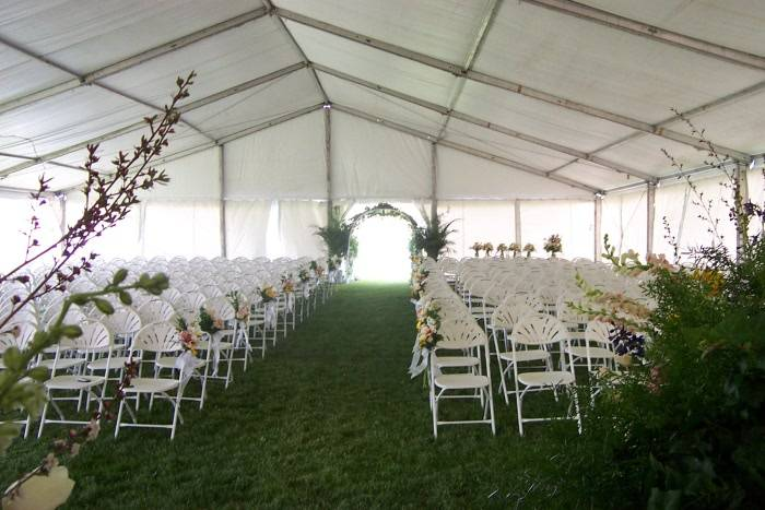 With a tent wedding you can bring the outdoors inside.