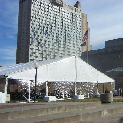 Image of weighted clearspan tent in Kansas City