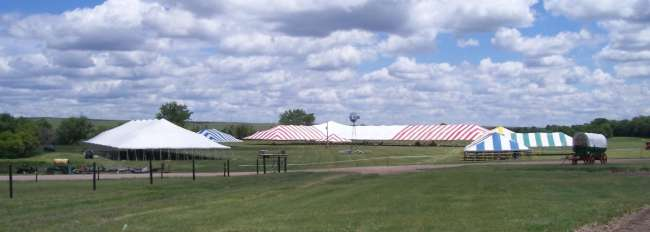 Group of Tents at Cattlemen's Ball 2007