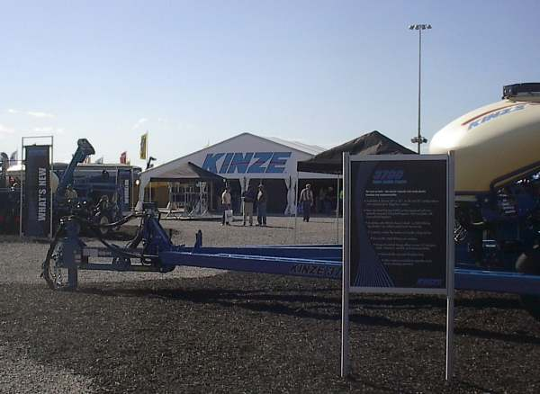 IMAGE of 50 X 45 tent with kinze logo on ends