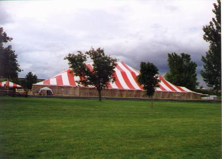 image of Large Red & White Commercial Tent