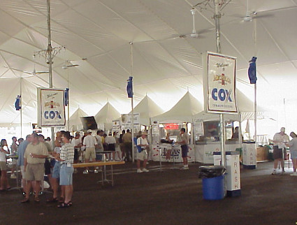 image of a big 86 X 140 white tent rented in Omaha, NE