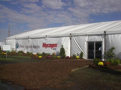 IMAGE of 60 X 90 side view tent shows banner