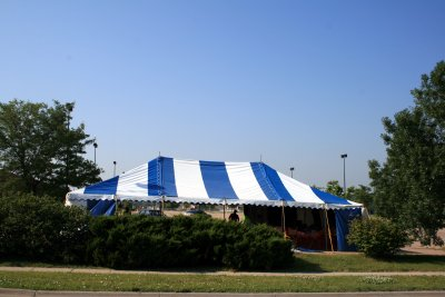 image of 30 X 50 blue and white festival tent
