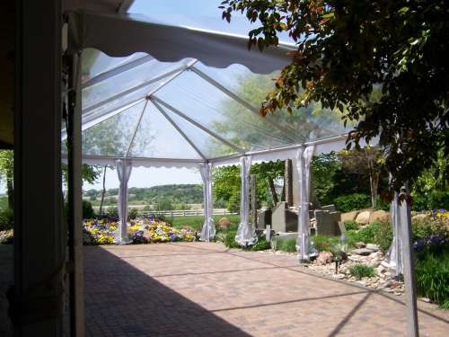 Interior View 20 X 40 Clear Tent set for Omaha NE party.