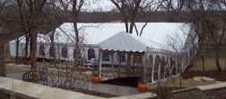 Walkway - a clearpan rental tent in Omaha Nebraska