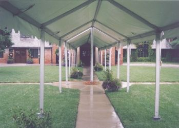 IMAGE of inside of a walkway canopy set at Omaha Country Club