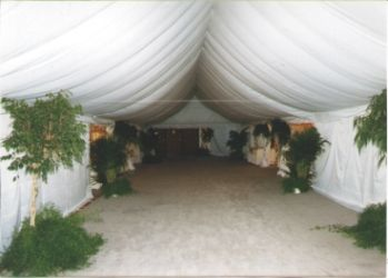 IMAGE of inside of a walkway set for a wedding in Omaha, NE