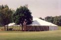 60 X 90 big white tent rental at University of Nebraska at Lincoln